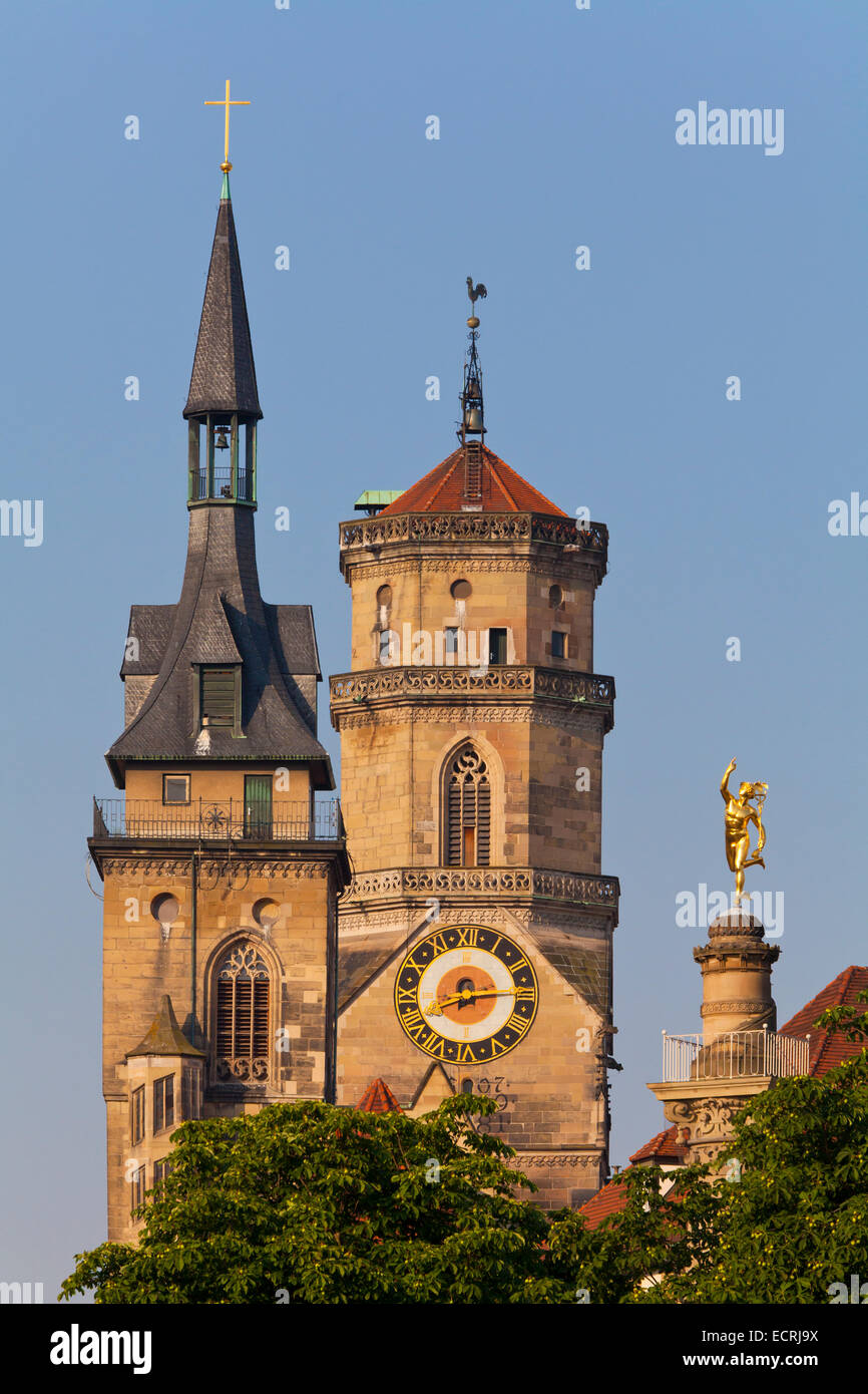 COLLEGIATE CHURCH, MERCURY, MERCURY COLUM, STUTTGART, BADEN-WURTTEMBERG, GERMANY - Stock Image