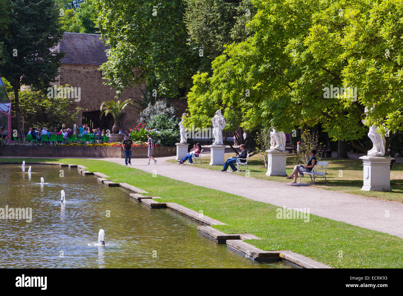 PARK OF THE ELECTORAL PALACE, KURFUERSTLICHES PALAIS, TRIER, TREVES, RHINELAND-PALATINATE, GERMANY Stock Photo