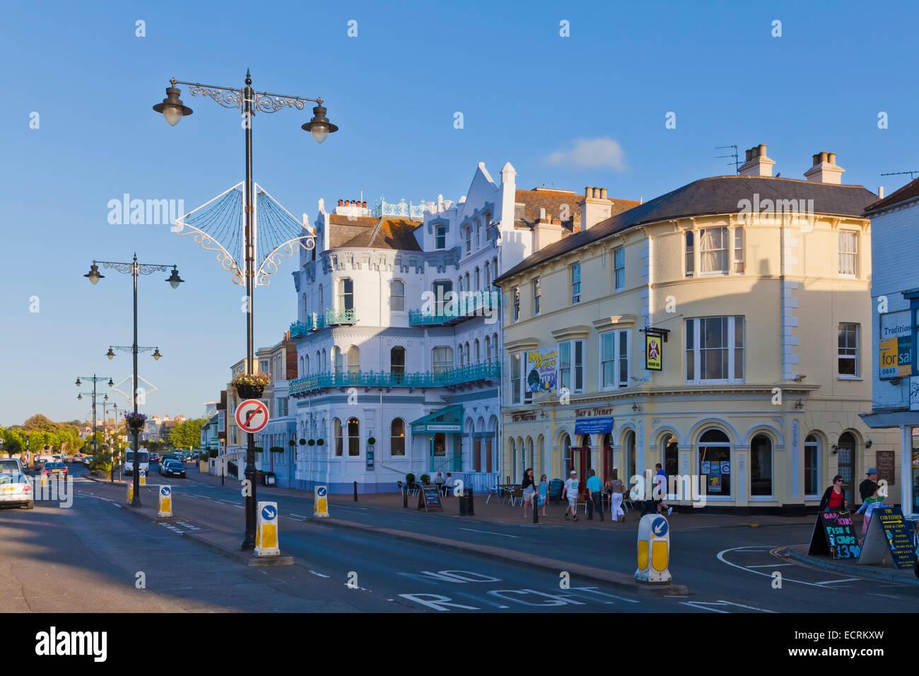 HOTEL ESPLANADE, RESTAURANTS, ESPLANADE, RYDE, ISLE OF WIGHT, ENGLAND, GREAT BRITAIN - Stock Image