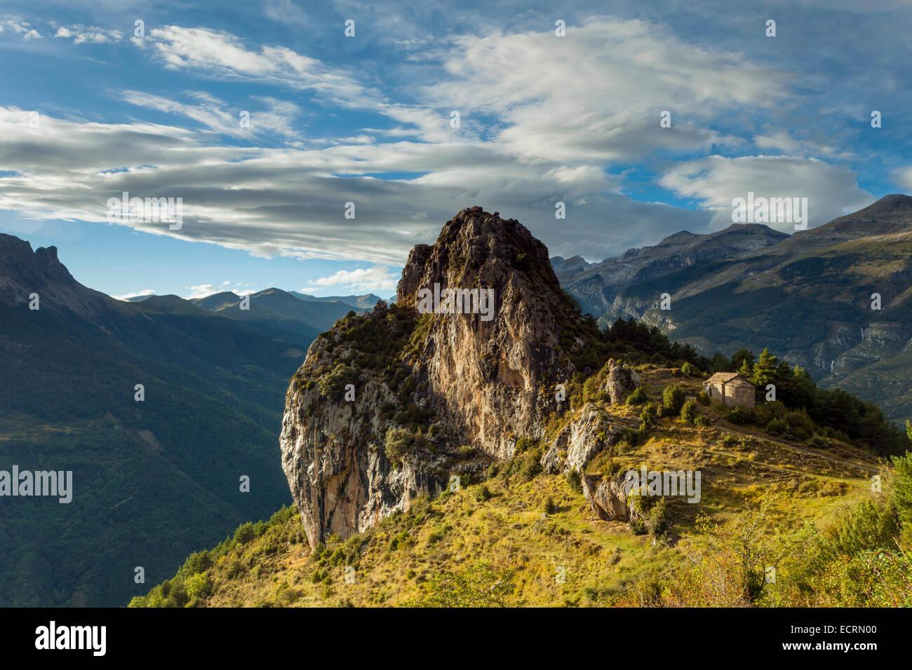 Pyrenees mountains near Tella, Huesca, Aragón, Spain. Ruta de las ermitas (Hermitage route). Stock Photo