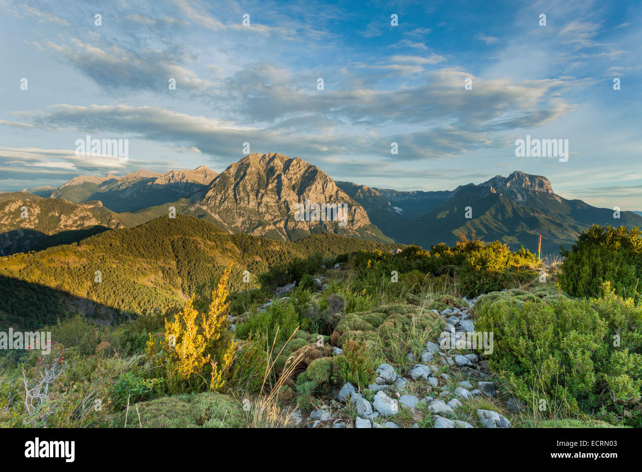 Pyrenees mountains near Tella, Huesca, Aragón, Spain. Stock Photo