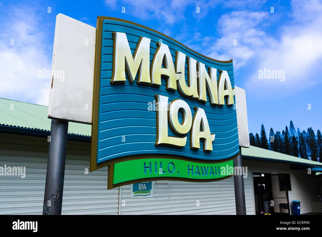 Mauna Loa Macadamia Nut Corporation, Hilo, Big Island, Hawaii, United States. - Stock Image