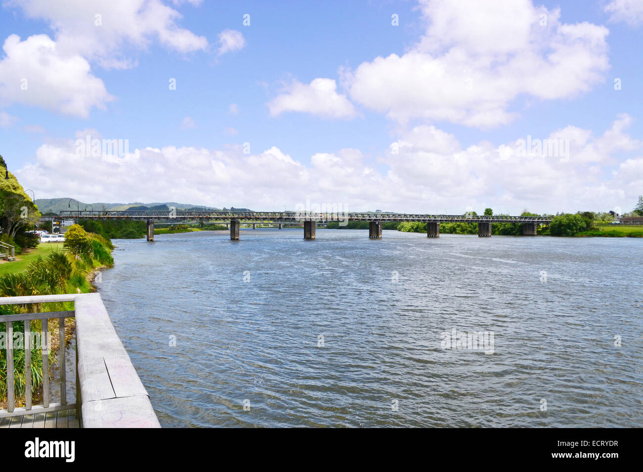 A view of Waikato river in Auckland New Zealand - Stock Image