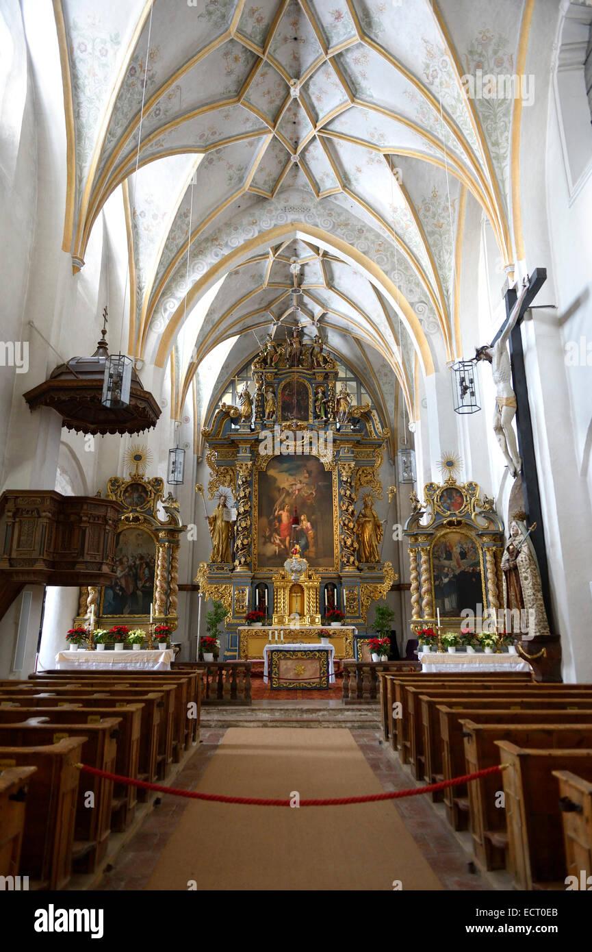 Germany  Bavaria  Chiemsee  island Frauenchiemsee  interior of monastery Stock Photo