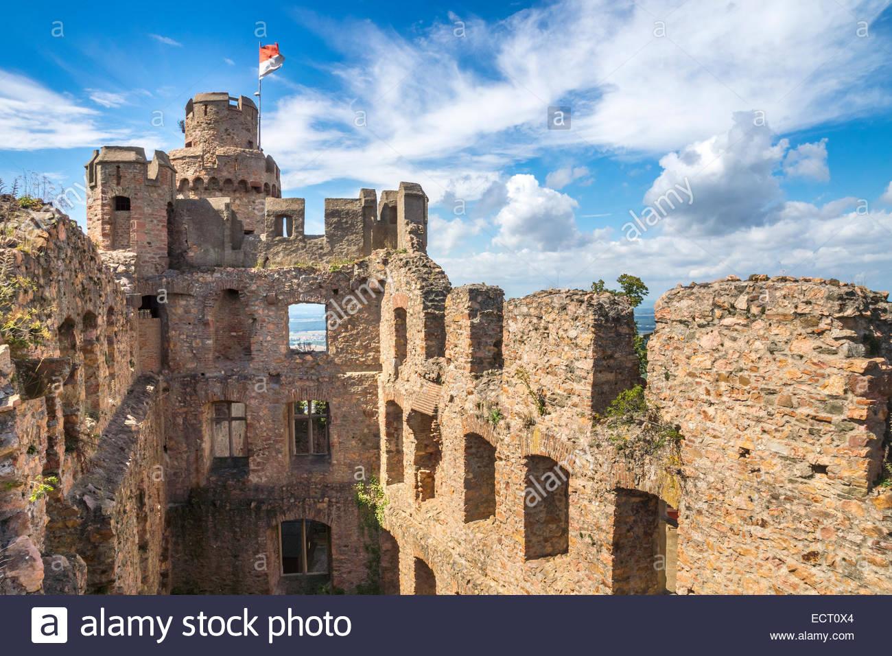Germany Hesse Bensheim Auerbach Castle Stock Photo