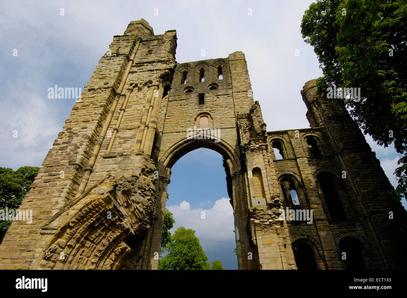 Kelso Abbey, Scottish Borders, Scotland, United Kingdom, Europe - Stock Image