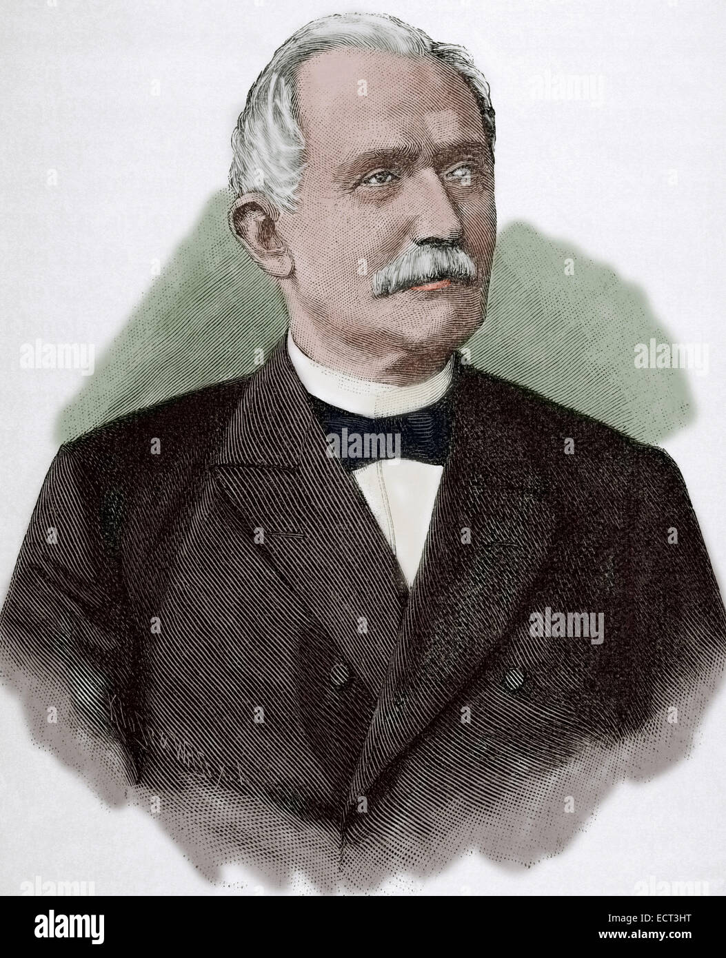 Arnold Heinrich Albert von Maybach (1822- 1904). German lawyer, politician and railway manager. Engraving. Historia - Stock Image