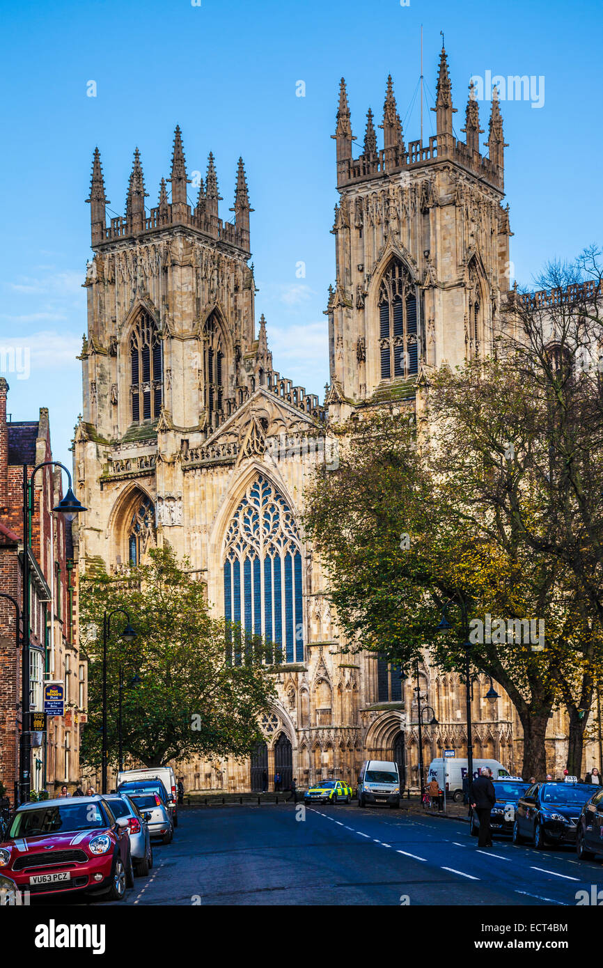 York Minster, the cathedral of the city of York. - Stock Image