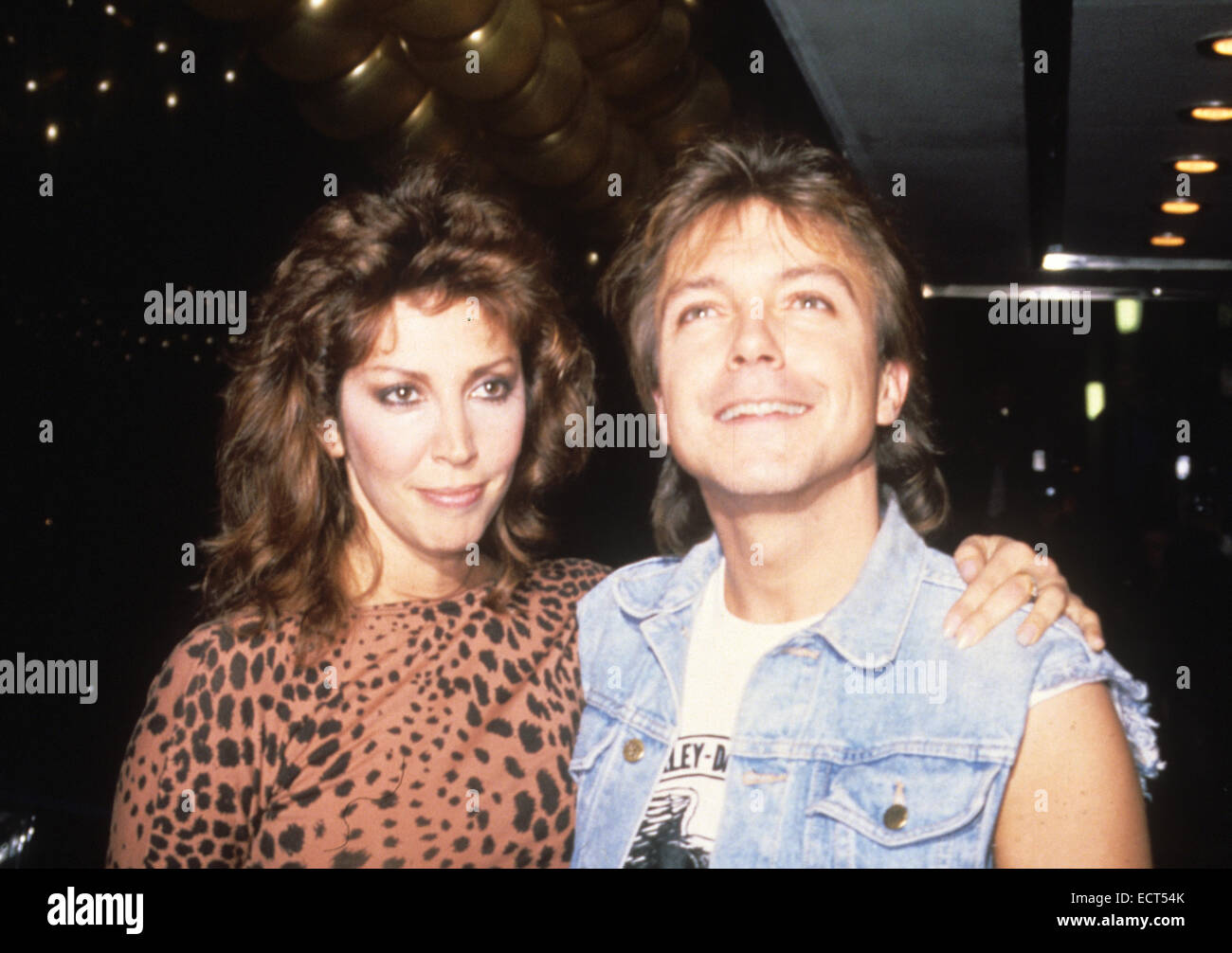 David Cassidy Us Pop Singer In 1973 With His Wife Meryl Ann Tanz Stock Photo Alamy