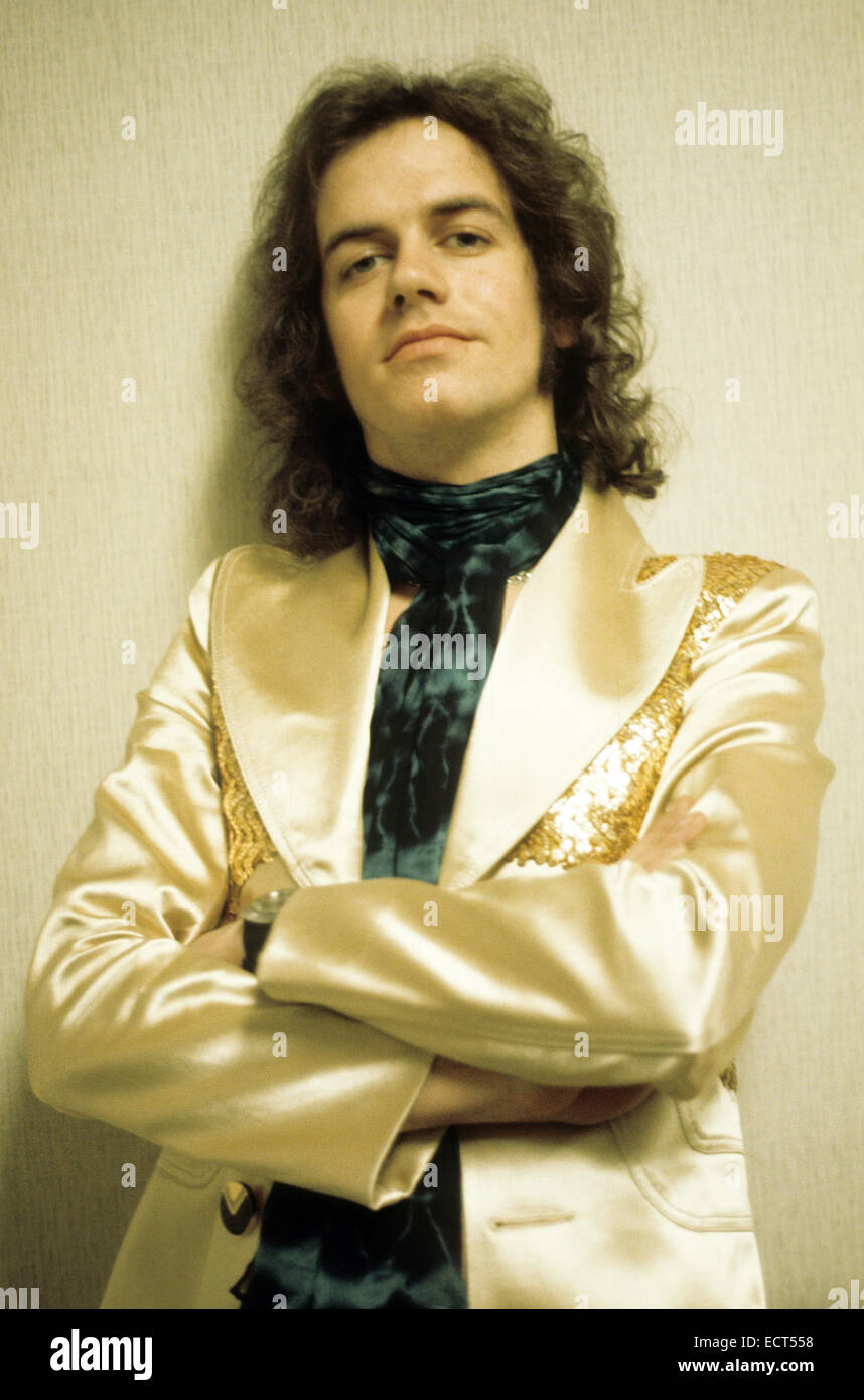 SLADE  UK pop group with Jim Lea about 1974 - Stock Image