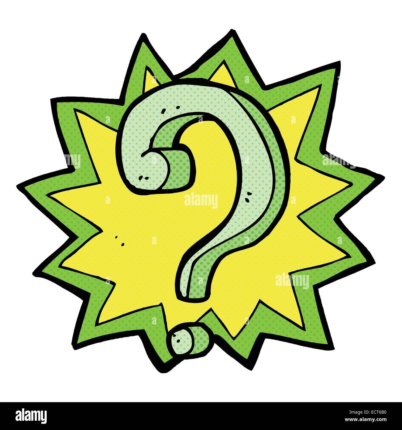 retro comic book style cartoon question mark stock vector art