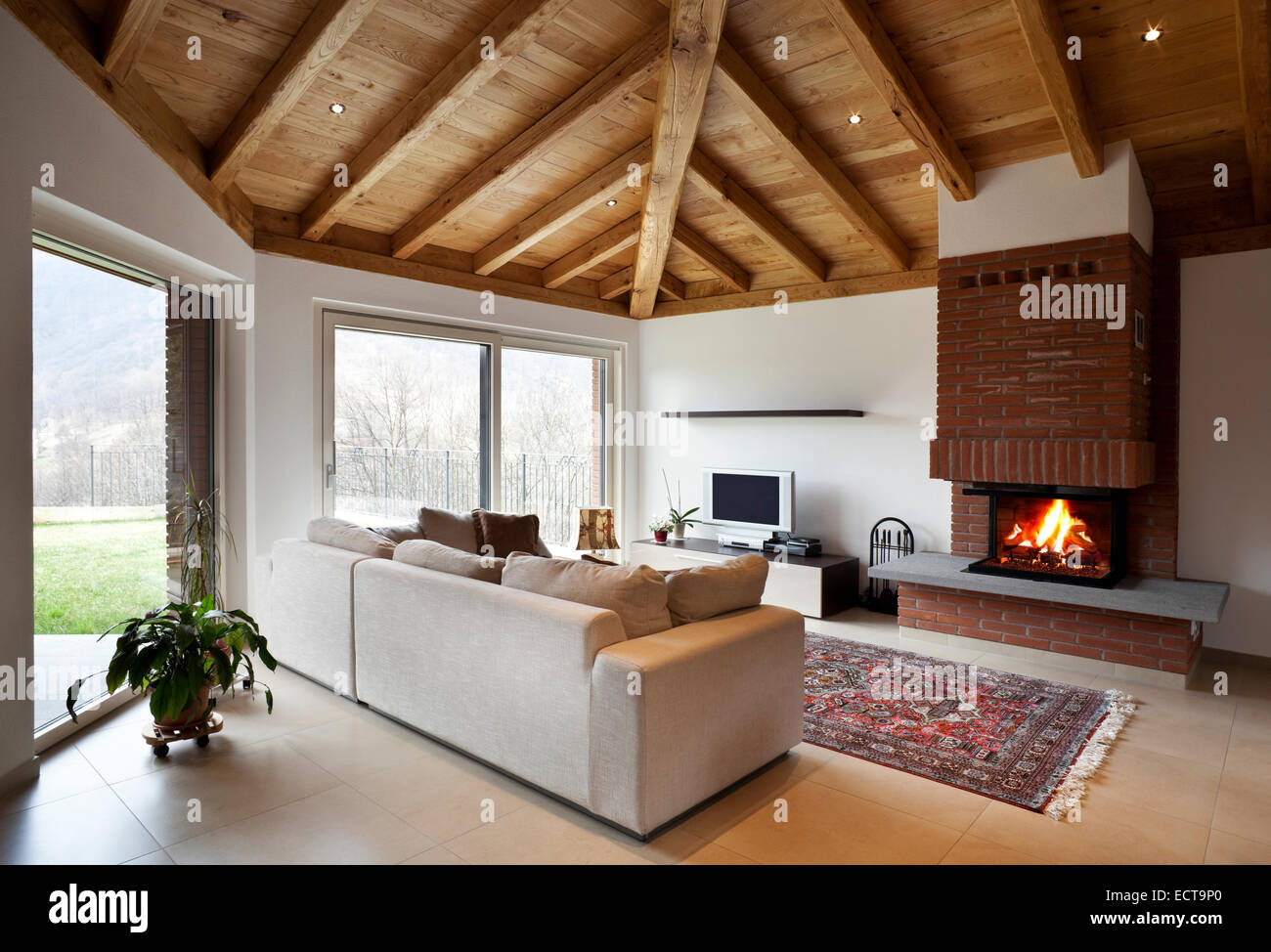 Wooden Roof Interior High Resolution Stock Photography And Images Alamy