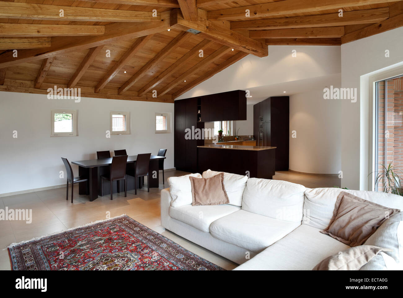 Open Living Home Roof Interior High Resolution Stock Photography And Images Alamy