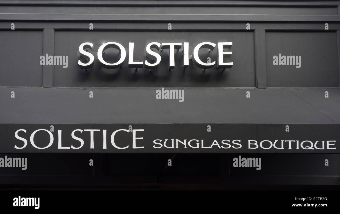 Solstice sunglass boutique San Francisco CA - Stock Image