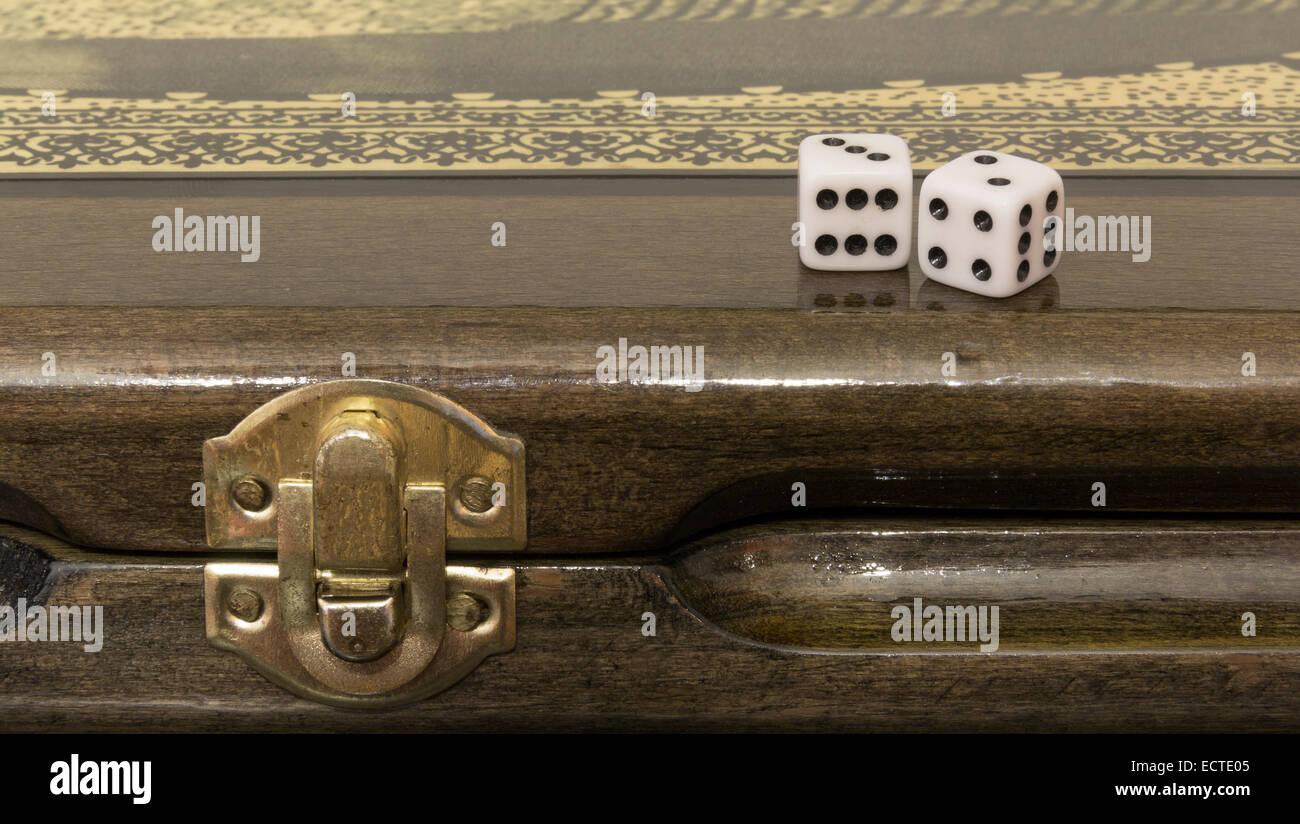 Azerbaijani backgammon - Stock Image