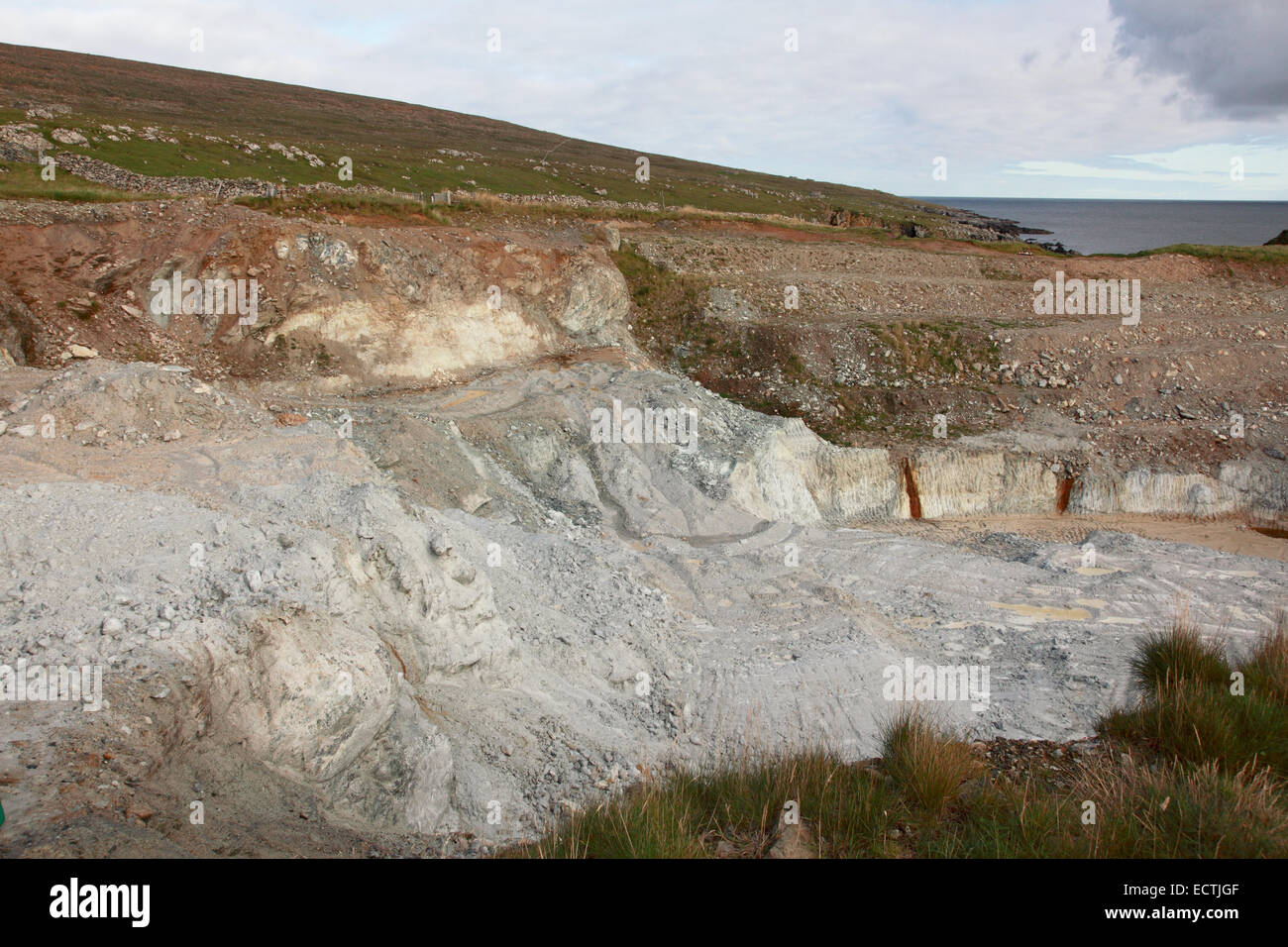 BritainÕs only working talc quarry at Clibberswick near Haroldswick, Unst, Shetland - Stock Image