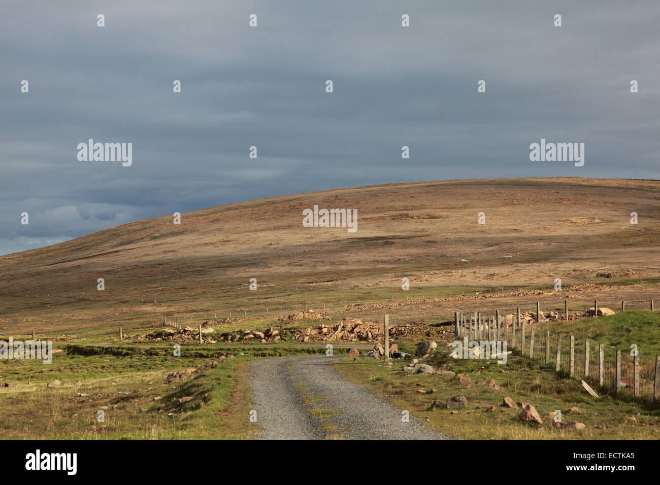 The Keen of Hamar seen from Hagdale, Unst, Shetland, a site of special scientific interest with serpentine rock - Stock Image