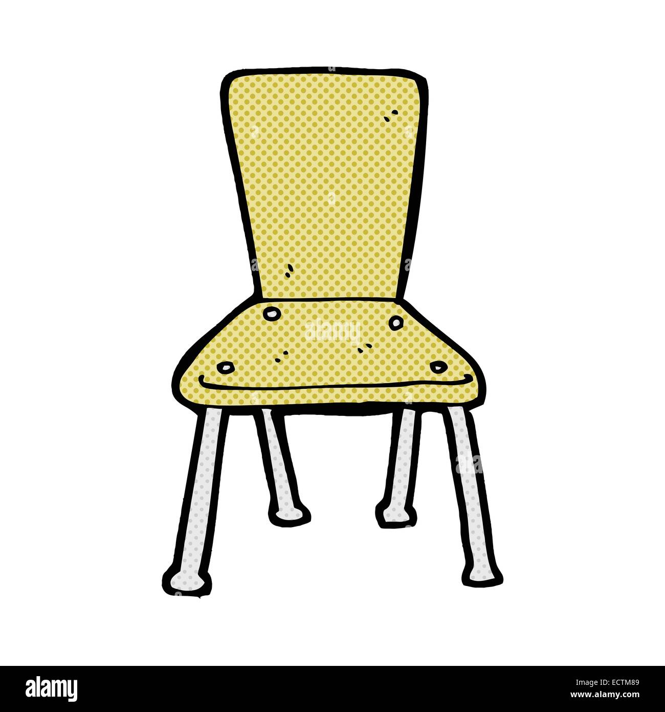 Marvelous Cartoon Old School Chair Cut Out Stock Images Pictures Alamy Download Free Architecture Designs Scobabritishbridgeorg