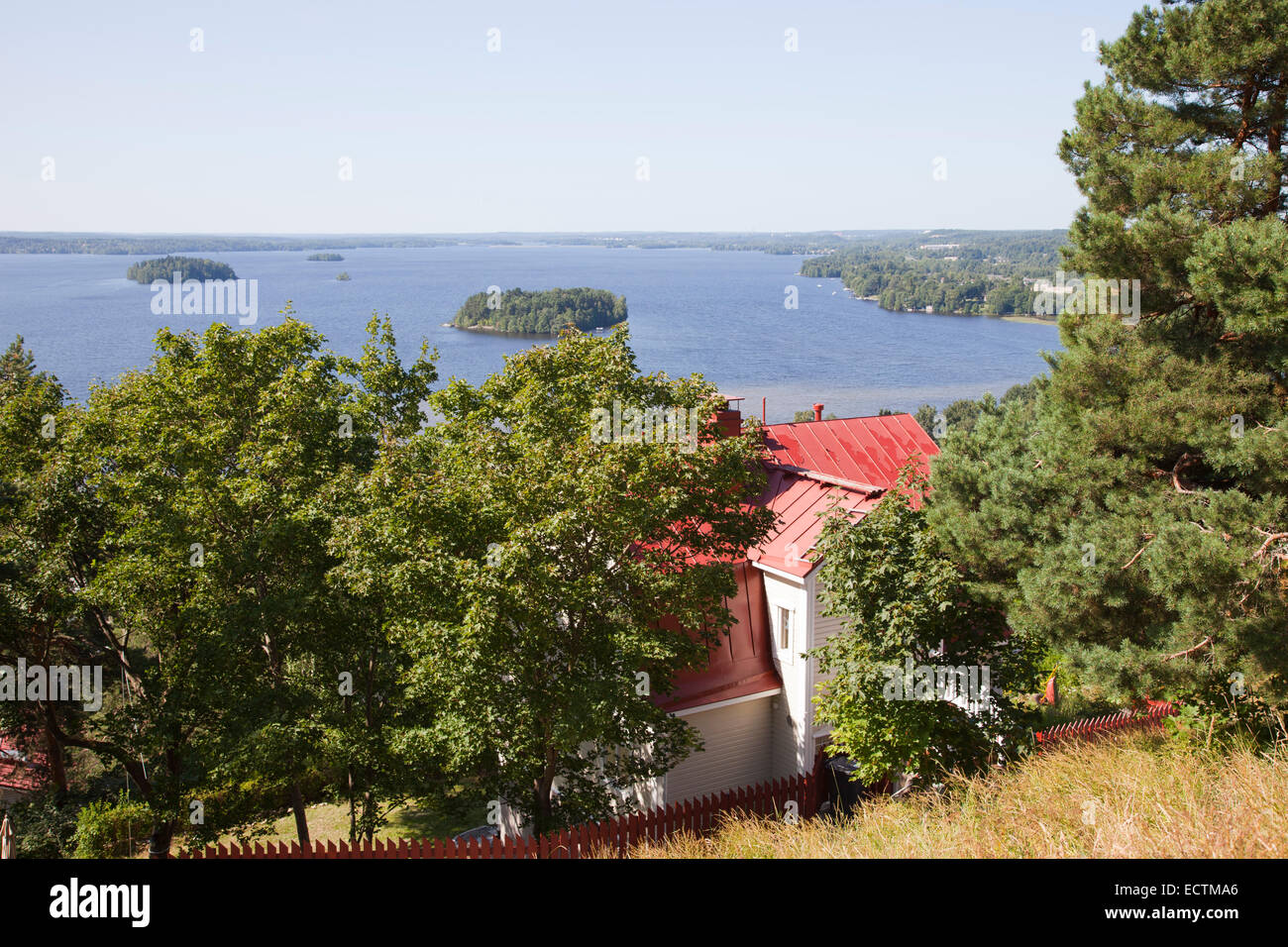 view of the lake pyhajarvi, tampere, finland, europe - Stock Image