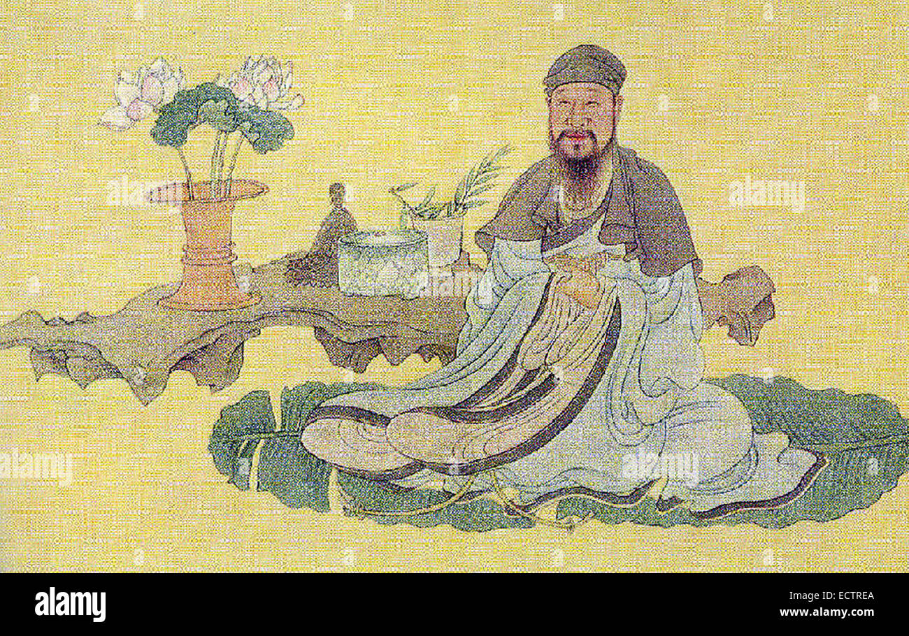 Bai Juyi or Bo Juyi, was a Chinese poet of the Tang Dynasty. - Stock Image