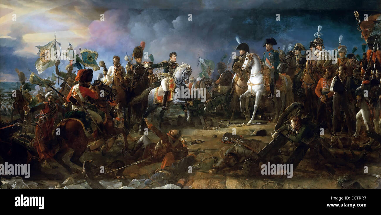 Napoleon at the Battle of Austerlitz, by François Gérard 1805. - Stock Image
