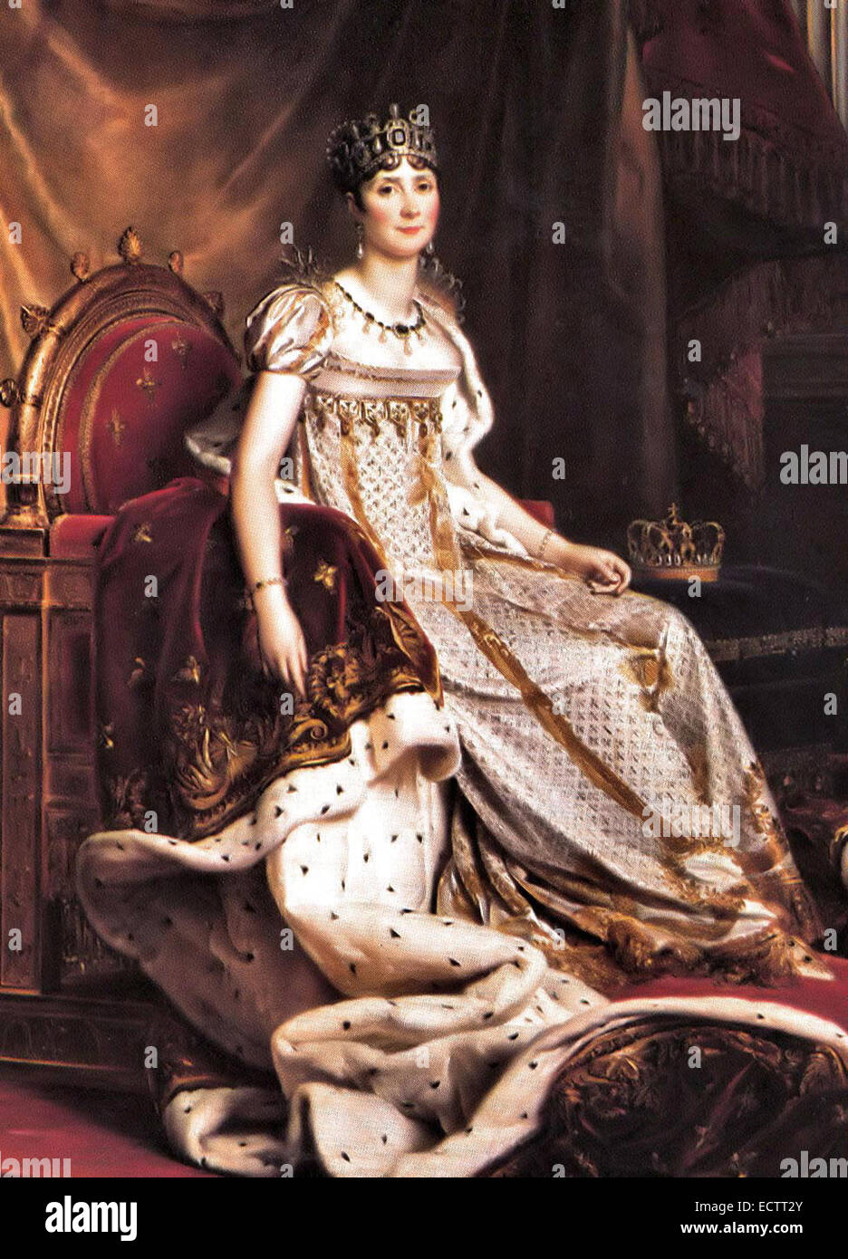 Joséphine de Beauharnais, first wife of Napoleon I, and thus the first Empress of the French. - Stock Image