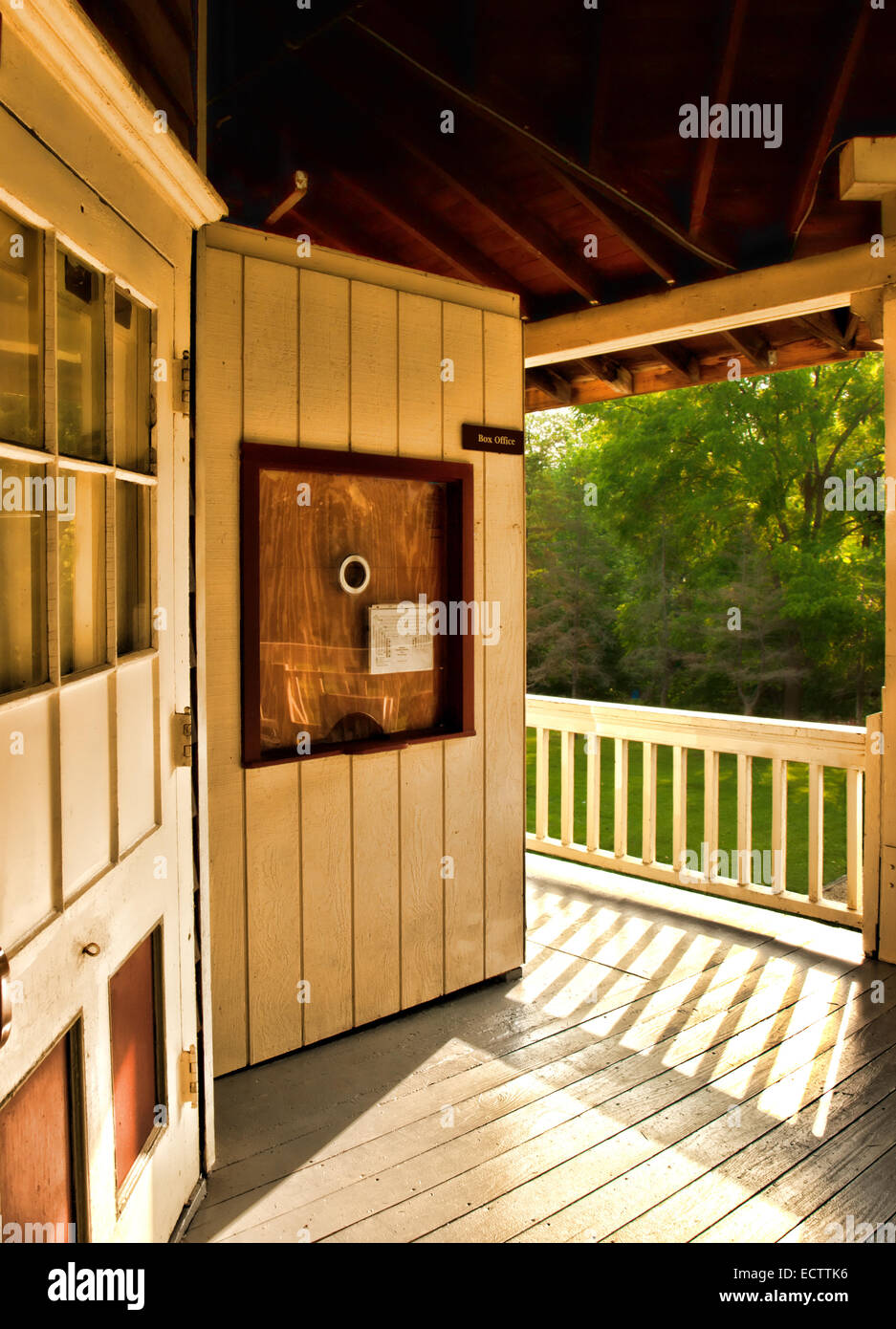 small rural  community theater box office - Stock Image