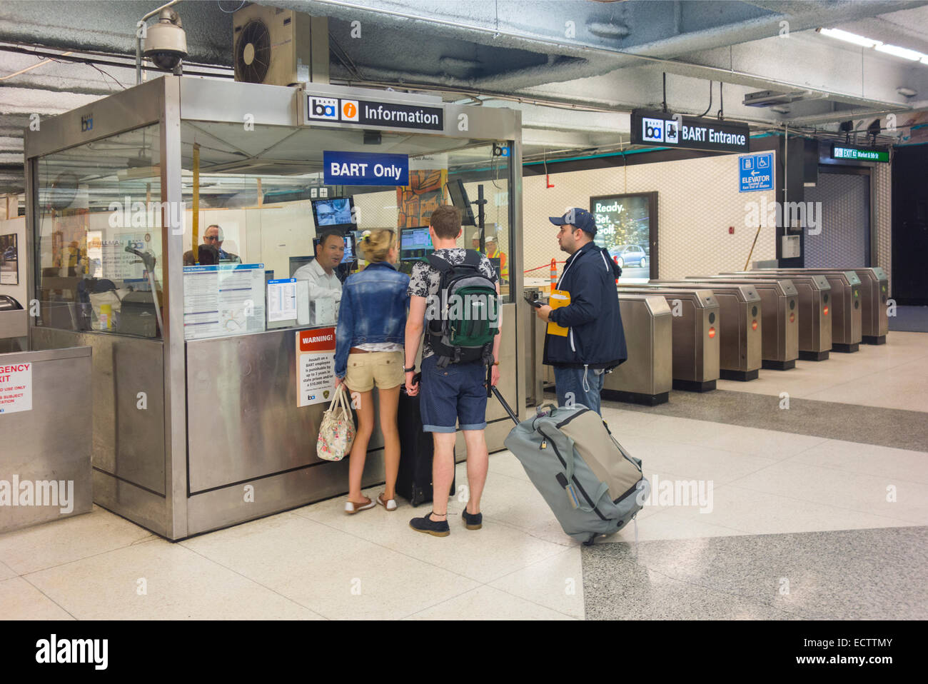 San Francisco BART subway station - Stock Image
