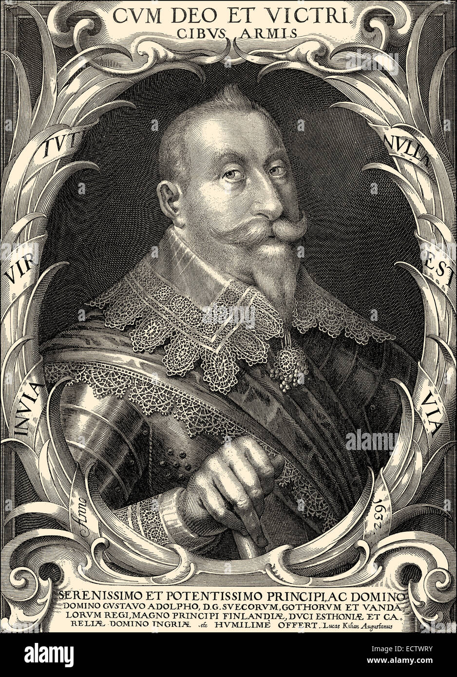 Gustav II Adolf, 1594 - 1632, King of Sweden from the ruling family of Vasa , - Stock Image