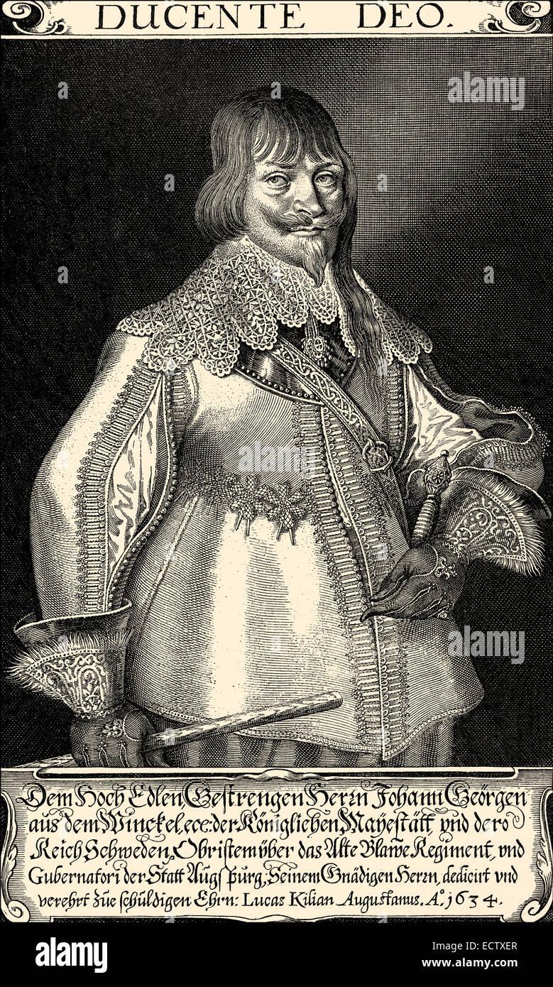 Johann Georg Aus dem Winckel or Winkel, 1596-1639, a council of war, Johann Georg Aus dem Winckel oder Winkel, 1596 - Stock Image