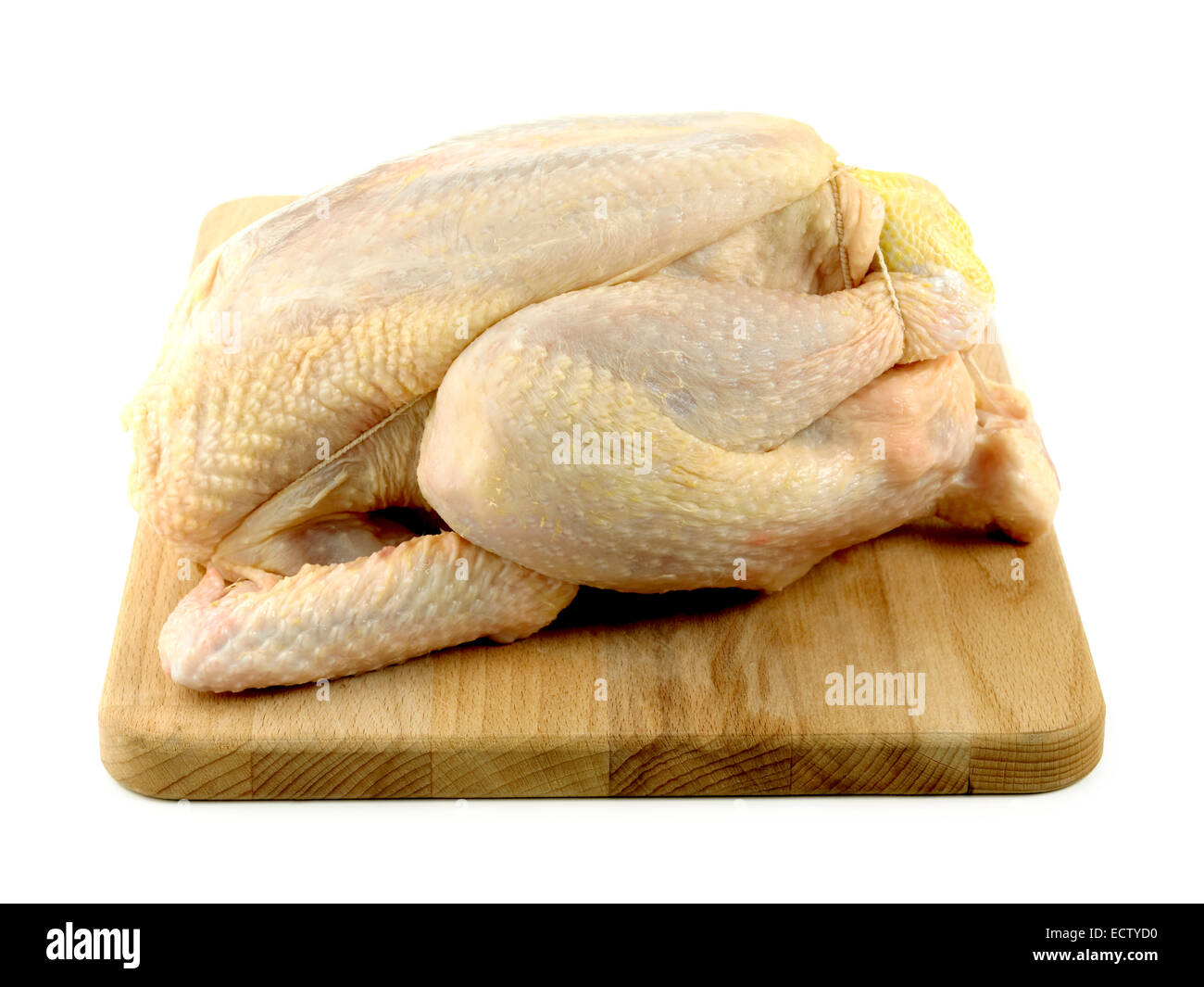 uncooked chicken - Stock Image