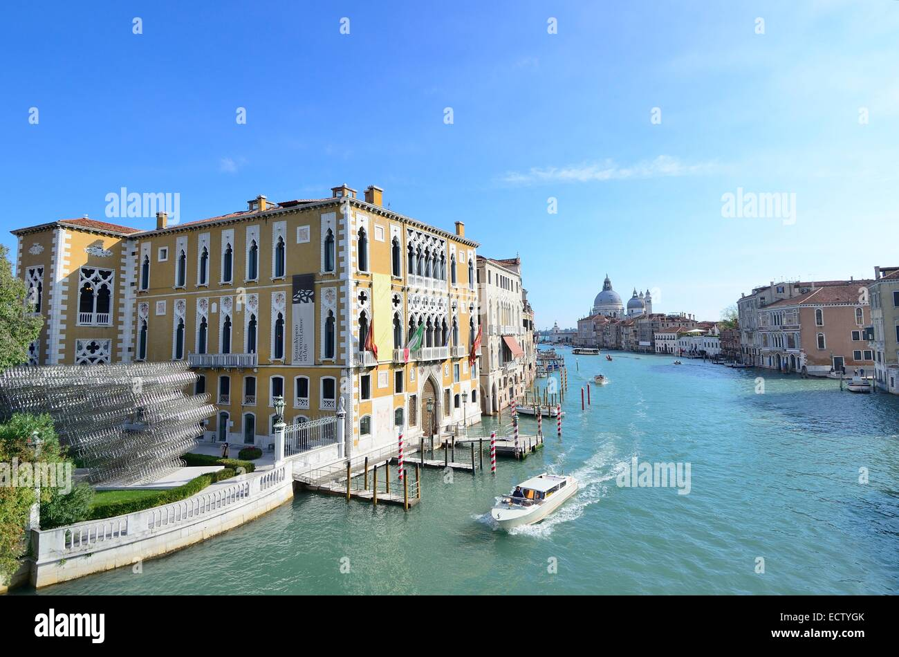 Grand Canal Venice, view from academia bridge - Stock Image