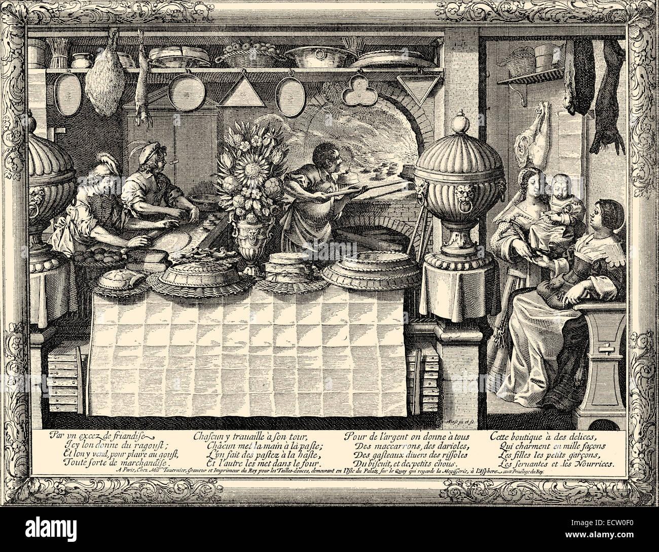 Confectioner, 17th century, Konditor, 17. Jahrhundert - Stock Image