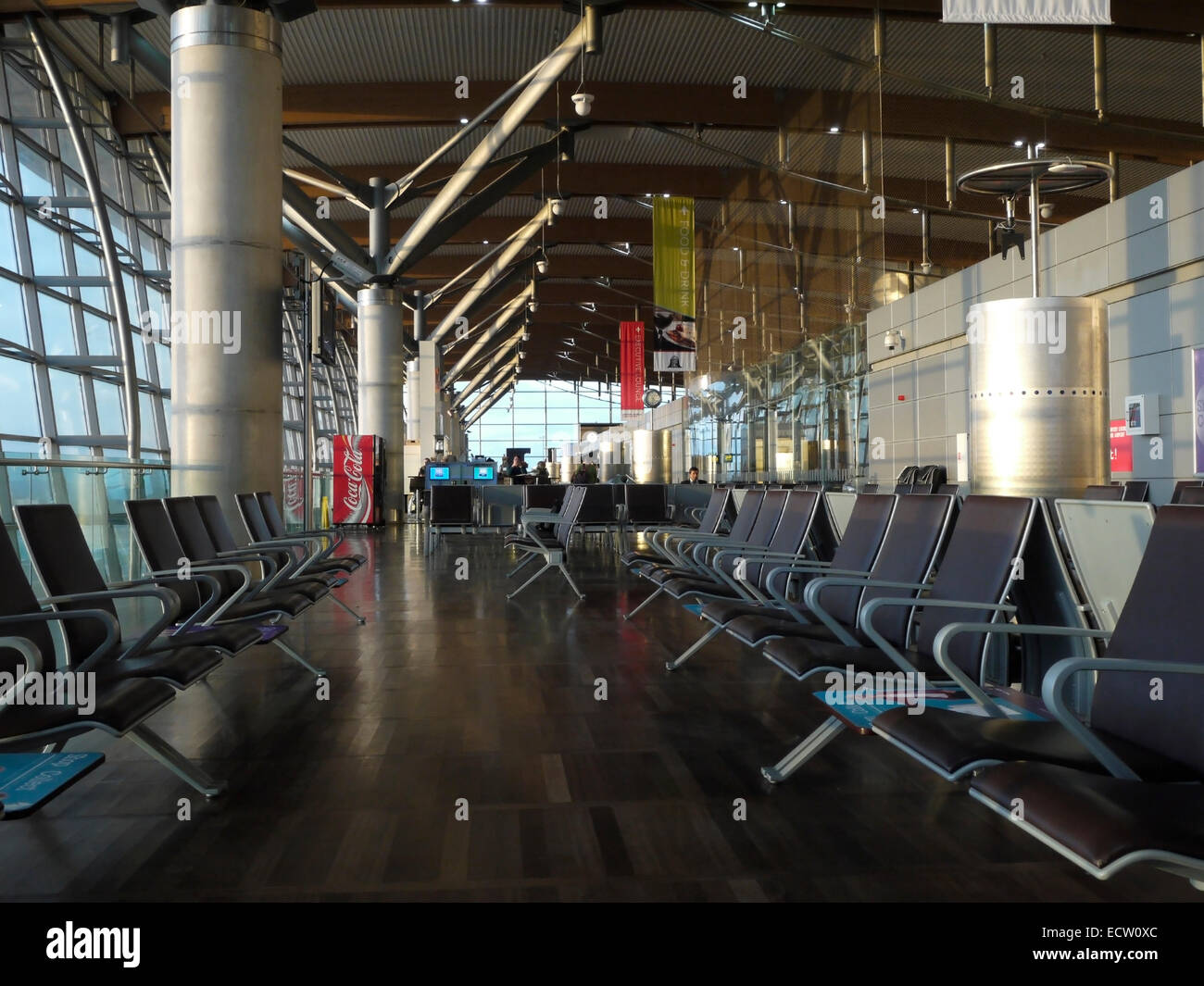 Inside the departure lounge at Cork Airport, Cork, Ireland - Stock Image