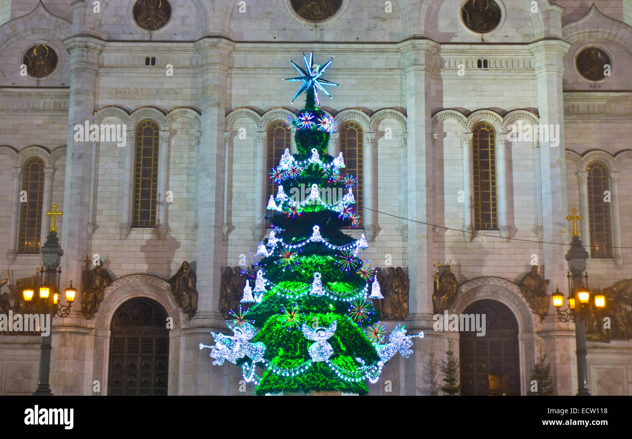 Christmas tree in the Cathedral of Christ the Savior 2019 73