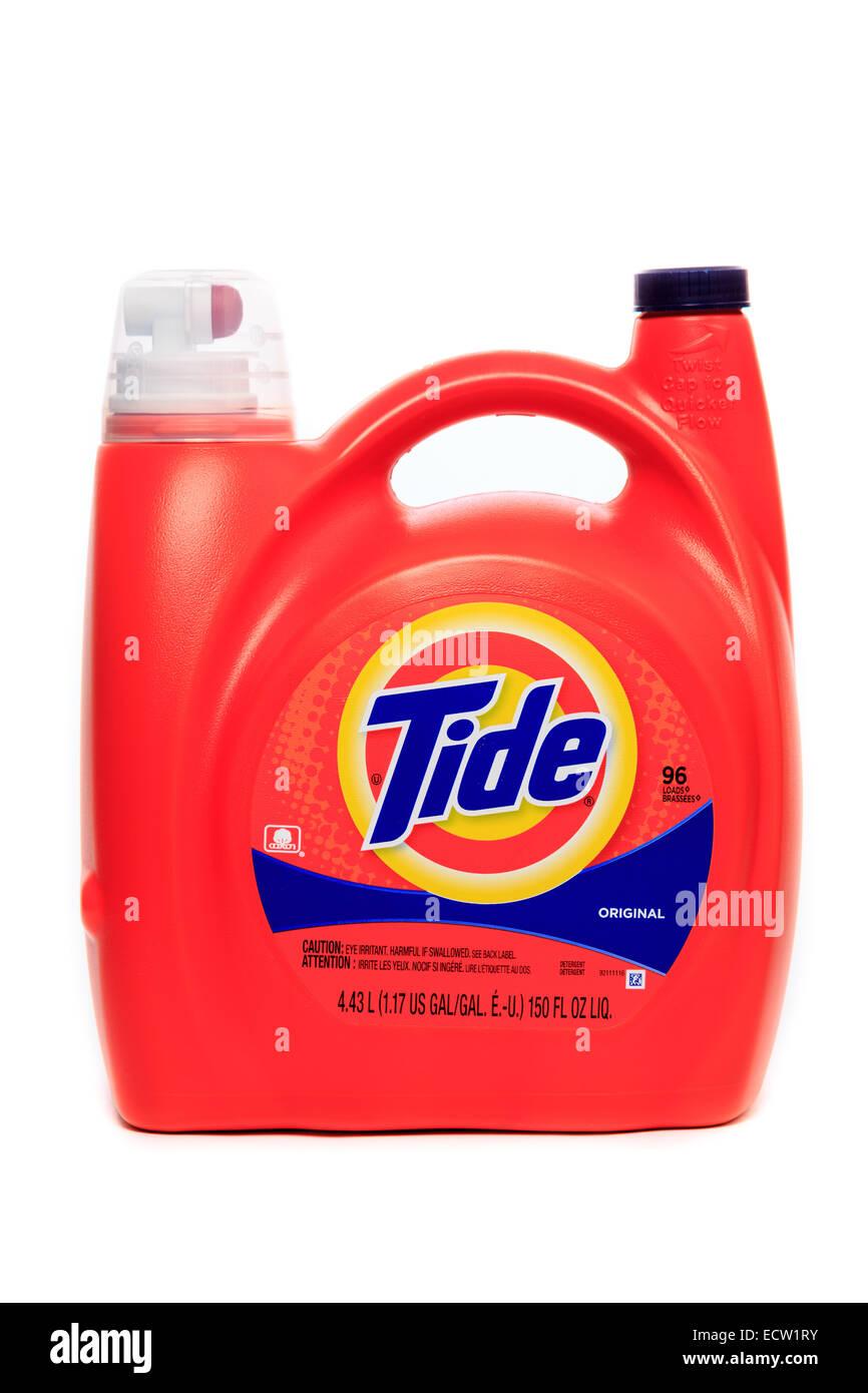 Liquid Tide Original Laundry Detergent Stock Photo