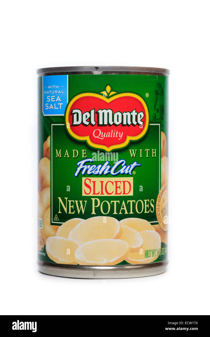 Del Monte Foods Canned Sliced New Potatoes Stock Photo