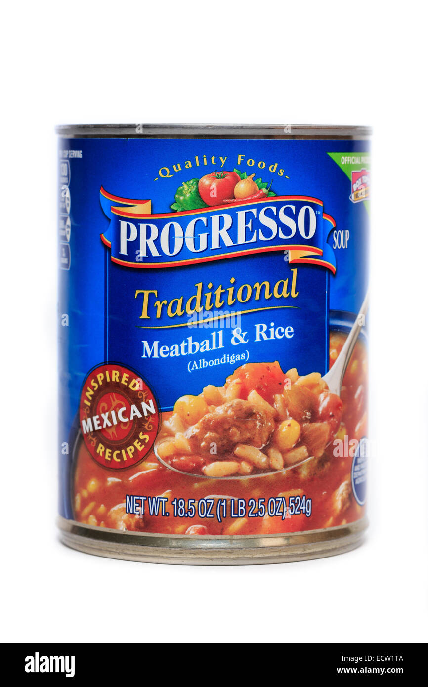 Progresso Traditional Meatball & Rice Albondigas Soup - Stock Image