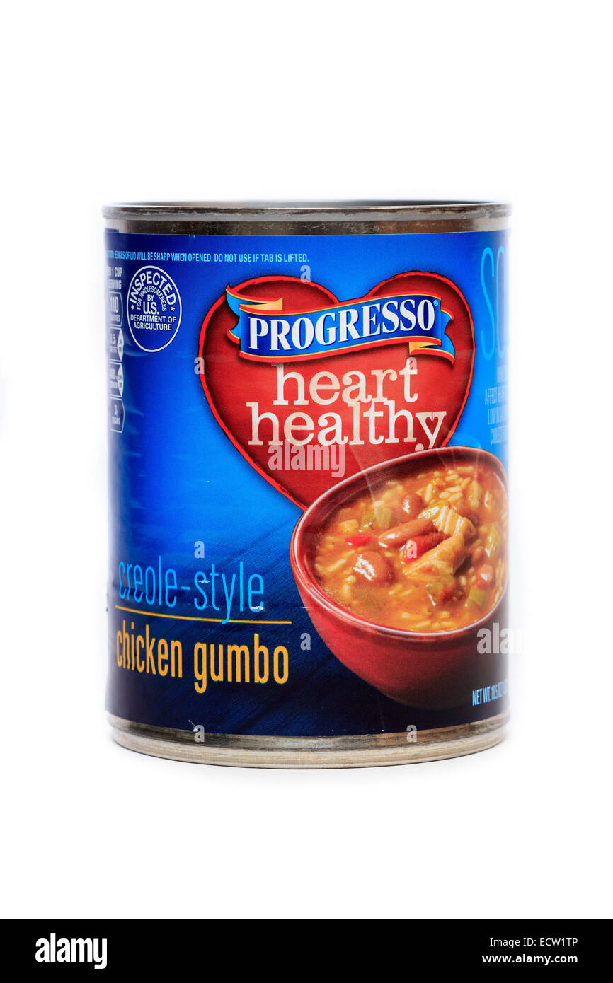 Progresso Heart Healthy Creole Style Chicken Gumbo - Stock Image