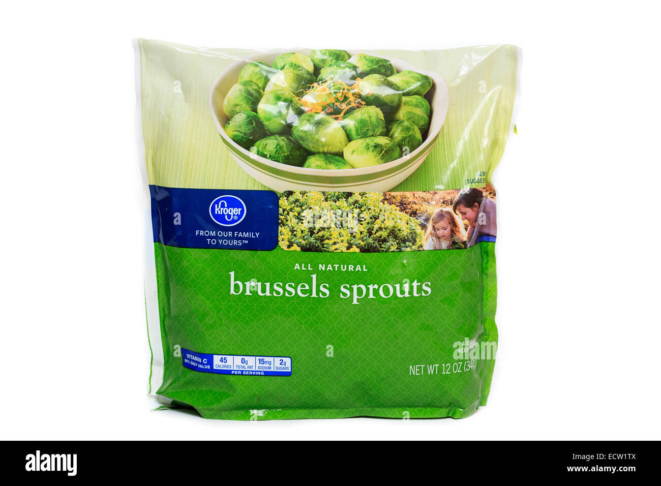 Kroger Brand Frozen Brussels Sprouts Stock Photo