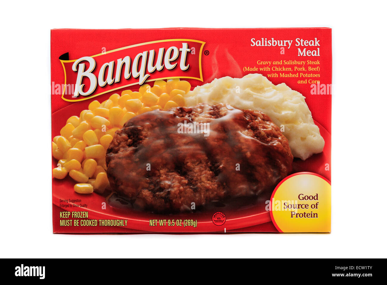 Banquet Salisbury Steak Ready Meal - Stock Image