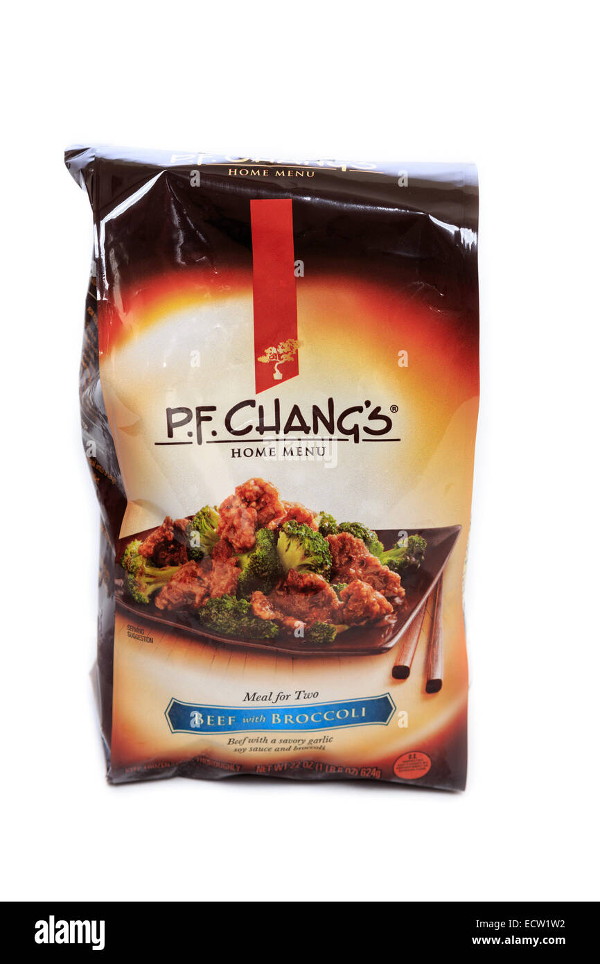 P.F. Changs Home Menu Beef with Broccoli Ready Meal Stock Photo