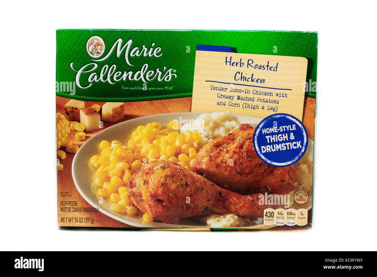 Marie Callender's Herb Roasted Chicken Ready Meal - Stock Image