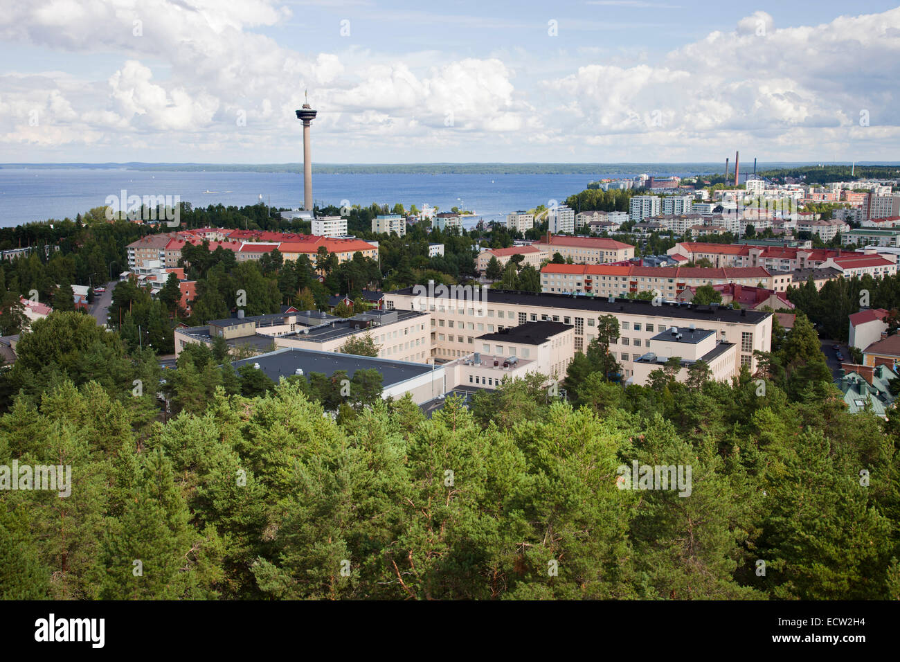 panoramic view from the observation tower, tampere, finland, europe - Stock Image