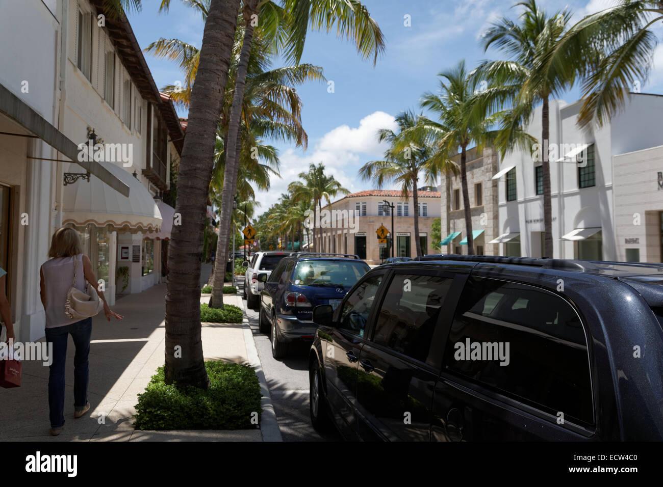 Worth Avenue, Palm Beach County, Florida, USA Stock Photo