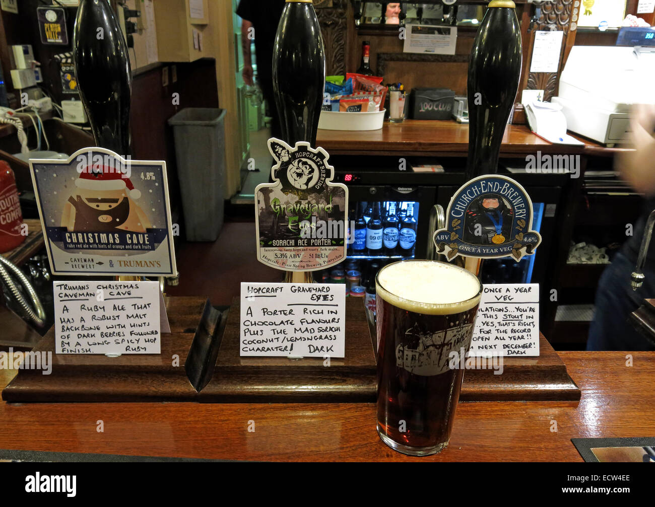 A bar of CAMRA real ale,Craven Arms,Birmingham - Stock Image