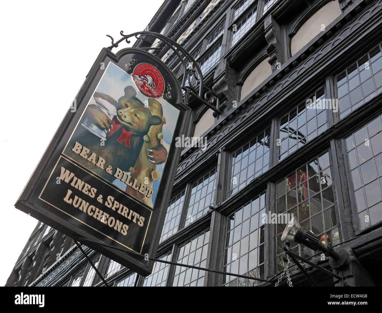 The Bear & Billet Pub,Chester City,Cheshire,England,UK - Stock Image