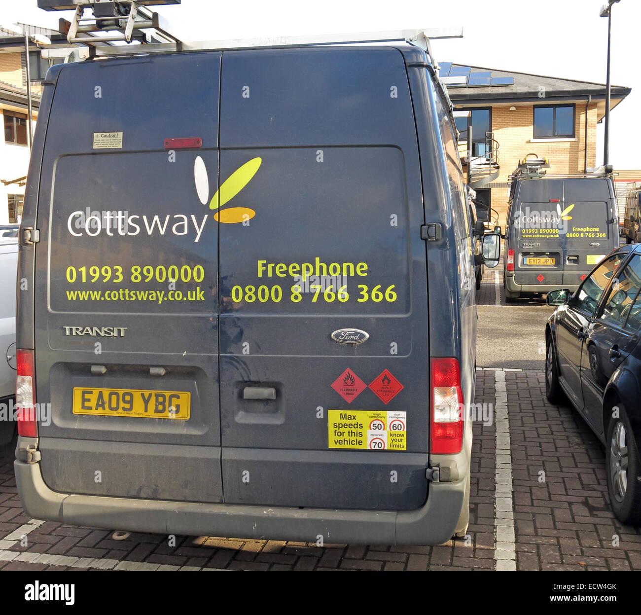 Cottsway Housing Association Van, Witney, West Oxfordshire, England, UK - Stock Image
