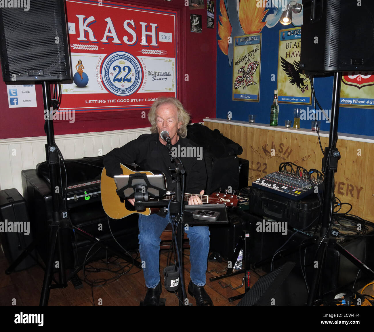 Music at KAsh22, Frodsham,Cheshire, England,UK - Stock Image
