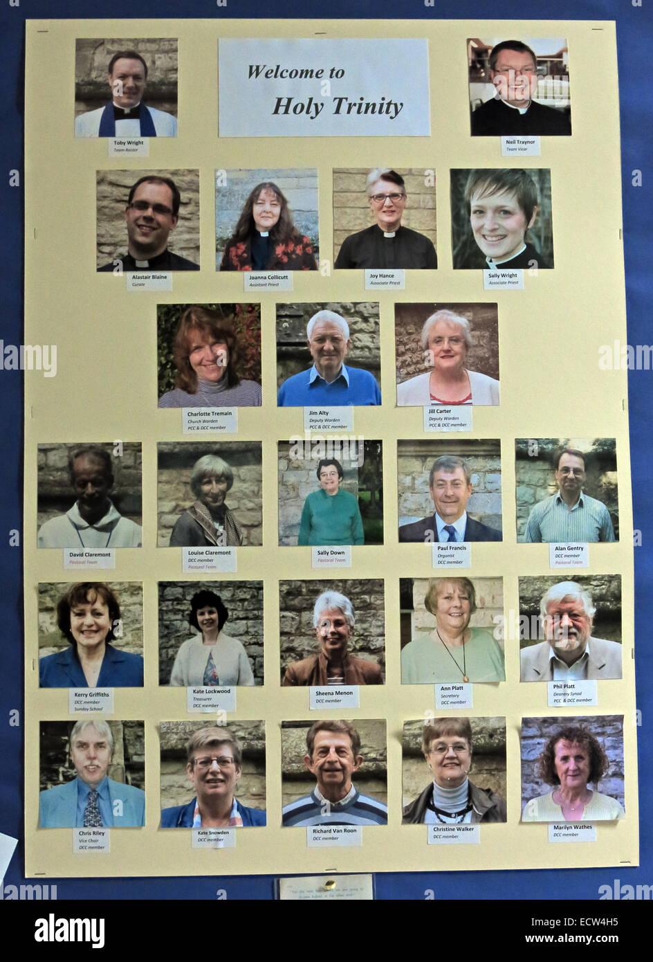 Welcome to the Holy Trinity Woodgreen Witney, West Oxfordshire, England UK - Stock Image